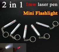 led flashlight pen - Mini Flashlight in laser pen multi function LED Light xmas mW Beam Red Laser Pointer Pen with Keychain Flashlight