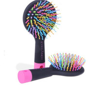 anti static hair brush - 10 Rainbow Combs Volume Brush Hair Combs Airbag Anti Static Shun Tangle Hairdressing Mirror in Box