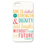 bible cases - Christian Theme Bible Verse Proverbs Hard Plastic Mobile Protective Phone Case Cover For iPhone S S C