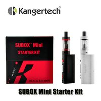 gift box metal - Authentic Kanger Subox Mini Starter Kits with Kangertech KBOX Mini W Box Mod Subtank Mini V2 OCC atomizer Gift box