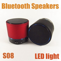 Wholesale S08 Wireless Bluetooth Speaker Flash Hi Fi Music Player Portable Mini Stereo Subwoofer For Samsung HTC Smart Phones PC New MIS095