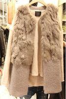 Wholesale Real rabbite fur vest women brand designer lady cashmere winter vest long style autumn Luxury fur vest femme waistcoat colete feminino