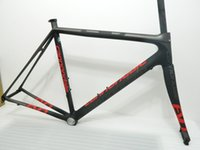 carbon fiber road bike bicycle frame - full carbon fiber road frame good quality Supersix EVO carbon road frame matte red black carbon bicycle frameset UD bike frames
