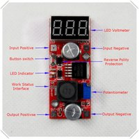 adjustable switching voltage regulator - LM2596 DC DC Adjustable Step Down Power Supply Module buck converter Red LED display Voltmeter Button Switch piece