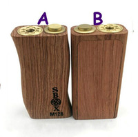 wood door - 2015 new S box mod wood box mod mechanical mod dual battery Copper contact pin mm magnets Kamagong wood Unibox sliding door DHL free