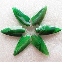 6pcs al por mayor del verde de la manera intrigante ágata del Onyx Peachblow pendientes pendientes de perlas y collar de accesorios de bricolaje
