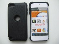 Wholesale 1x Ballistic Triple Layer Shockproof Hybrid Hard Plastic Case Rubber Cover for iPod Touch th Dropshipping