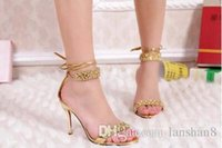 Wholesale 2015 New Fashion High Heels Silver Rhinestone Shoes Wedding Shoes Sandal Bridal Shoes With Large Yards cm cm Heel
