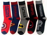 Wholesale High Quality Christmas Socks Winter Keep Warm Cotton Socks Adults Man Woman Socks Spiderman Superman Avengers Alliance Christmas Gifts Sock