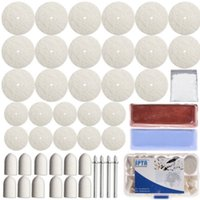 aluminium polishing kit - 59Pc Aluminium Metal Compound Felts Mandrel Polish Kit For Dremel Rotary Tools