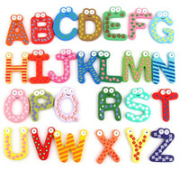 alphabet magnets - Children s Toys Wooden Alphabet Fridge Magnets One Set have Puzzle toys for Kids Christmas gift