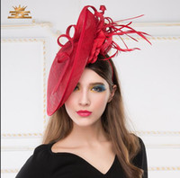 banquet fascinator - 2015 Spring and summer wedding hats for women linen cap British fashion festival banquet small ceremony hat