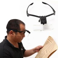 Wholesale 5 Lens X X Headband LED Eye Glasses Goggles Loupe Visor Magnifier