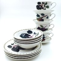 Wholesale Original single export of ceramic tableware Botanical Garden Series fruits afternoon cup rice bowl dish