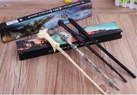 Wholesale 100pcs New Hot LED Wand Deathly Hallows Hogwarts Collection Wizard Harry Potter Magic Wand