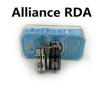 alliance ring - Alliance RDA Atomizer Rebuildable Dripping Tank post design Peek Insulator with extra metal rings E cigarette fit thread tugboat