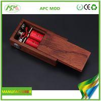 Wholesale Original APC MOD wood box mod APC box mod fit for battery Vape Mod e cigarette Electronic Cigarette Ecig