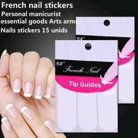 beauty tips hair styles - Nails stickers unids guide tips French Manicure Nail Art stickers Fringe form guides DIY Hair Styling Beauty tools
