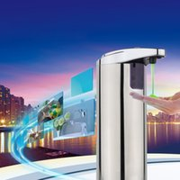 Wholesale New ml Automatic Sensor Soap Dispenser Base Wall Mounted Stainless Steel Touch free Sanitizer Dispenser For Kitchen Bathroom
