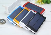 Wholesale Dropshipping Solar Battery Charger mAh W Power Bank for Mobile Phone Tablet External Solar Charger usb port with package