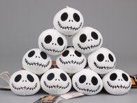 Wholesale 2016 CM The Nightmare Before Christmas Jack Plush Toys with Keychain Mini Soft Stuffed Dolls