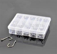 50Pcs 10 Размер Черный Серебряный Рыбалка Заостренный Крючки снасти в коробке для приманок приманки Отлично Металл Материал порядка $ 18no трек