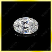 Wholesale Excellent quality oval shape x14mm cubic zirconia synthetic gemstone replacement for diamond