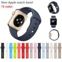 band clips - Colorful New Design Silicone Band With Connector Adapter Clip For Apple Watch Silicon Strap For iPhone iWatch Sport Buckle Bracelet Free DHL