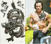 arm dragon tattoos - retail drop shipping dragon for men chest arm Good quality Temporary tattoos Waterproof tattoo stickers body art Painting whcn