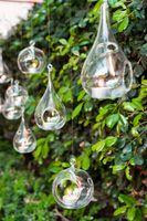 religious candles - 8pcs glass ball hanging candle holders cmx15cm teardrop glass tea light holder wedding candlestick home decor