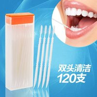 Wholesale Plastic Toothpick Inter Dental Cleaning Brush Portable Oral Hygiene Helper Double Heads