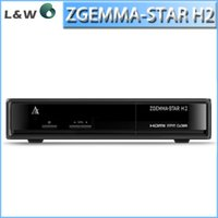 Wholesale zgemma star H2 as cloud ibox twin tuners DVB S2 T C tuner enigma linux OS Zgemma star H2 Full HD satellite receiver
