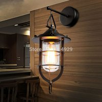 american dock - Loft American Conutry Wall Lamps Vintage Lamp RH Industrial Antiuque Dock Wall Light For Bars Restaurant Home Lighting