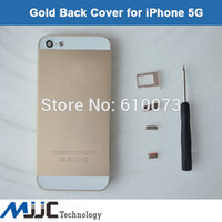 metal housing back cover replacement for iphone 5 5g gold back housing battery case cover rear frame tool free shipping