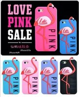 flamingo - HOT Pink Summer Cheap iphone6 S Flamingo D Silicon cases for Galaxy S6 Edge S5 D silicon Cartoon phone cases