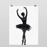 Wholesale Light Art Photography Silhouette Posture E Modern Classic Elegant Beautiful Girl Ballet Dancer Pop Posters Prints Wall Decor Canvas Painting