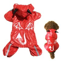 Wholesale Cute Fashion Cotton Inner Mesh Evil Pattern Wind Coat Pet Clothes raincoats K5BO