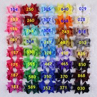 butterfly hair clip - Hot selling inch Girl baby solid present party colorful butterfly Grosgrain Ribbon Hair Bow Clips Y