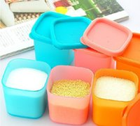 plastic food storage container - Newly Pieces Set plastic Multifunction storage seasoning box kitchen container with cover