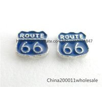 Cheap 10pcs ROUTE 66 Floating Charms FC771 7.7*6.7mm Fit Charms Locket Memory Living Magnet Glass Floating Locket Free shipping