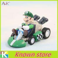 mario figures - Hot sale Super Mario Bros Kart PULL BACK Car Figures PVC Moto toys set