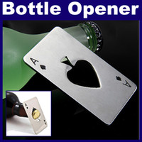Wholesale Stainless Steel Poker Card Beer Bottle Opener