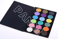 palette 18 color - Hot color makeup eyeshadow palette with matte black case mix matte and shimmer eye shadow G28