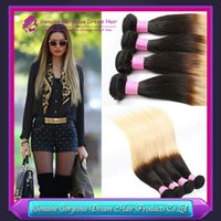 Cheap Brazilian Peruvian Malaysian Virgin Human hair 7AA Grade straight extensions 1B#613 3pcs lot can be dyed any color Msbeauty hair products