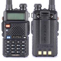 Wholesale New BAOFENG UV R UHF VHF Dual Band Dual Watch Two Way Radio FM Function
