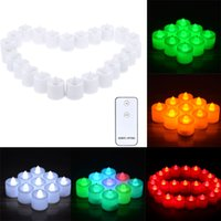 atmosphere events - 24Pcs LED Flameless Candle Set with Remote Control for Wedding Party Valentine Events Great for Creating Romantic Atmosphere