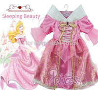 beauty girl games - New Children Kids Baby Girl Cosplay Dresses Sleeping Beauty Princess Costumes Wear Perform Clothes HOT Sale