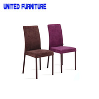 Wholesale Wood Dining Chair Dining Room Furniture Colors Fabric Cushion Available Upholstered Chair Seat Natural Finish Modern Dining metal Chair
