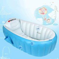 Pool baby bathtub accessories - Blue Pink Kids Inflatable Swimming Pool Portable Baby Toddler Bathtub Eco Friendly Safe Children Playing Pool Swimming Accessories SK566