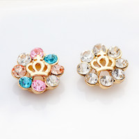 Wholesale New arrival Fashion colored rhinestone decoration crown moldings Mobile Phone Keypads button stickers W1386